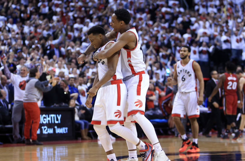 多伦多猛龙队-DeMar DeRozan和Kyle Lowry(摄影:Vaughn Ridley / Getty Images)