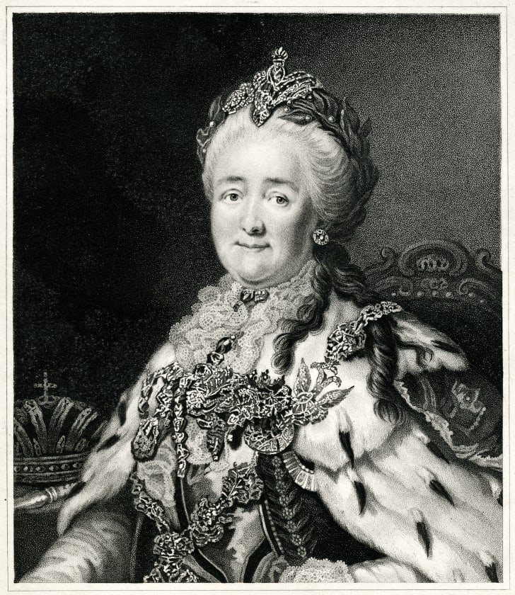 An illustration of Catherine the Great.