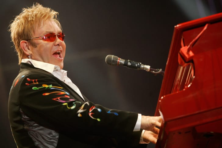 Elton John plays a concert in 2008.