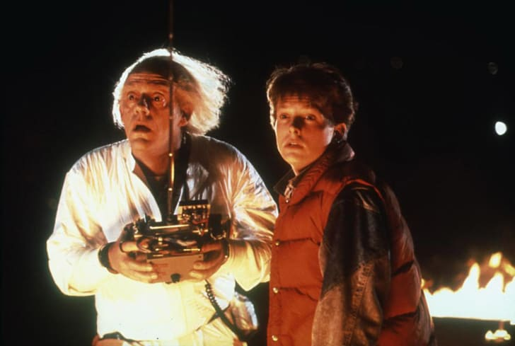 Doc and Marty in the movie 'Back to the Future.'