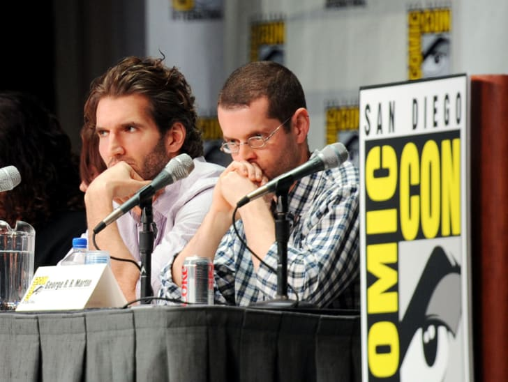 David Benioff and D.B. Weiss speak at HBO's 'Game Of Thrones' Panel during Comic-Con 2011 on July 21, 2011 in San Diego, California