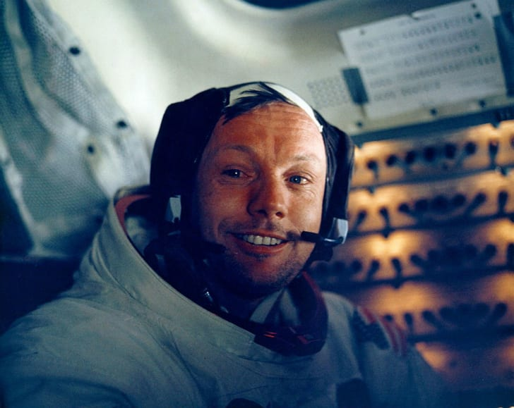 Astronaut Neil Armstrong is photographed after walking on the moon
