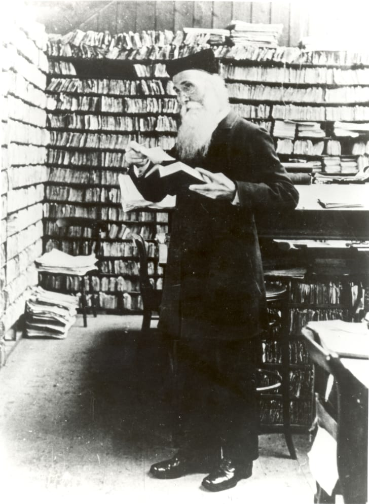 Sir James Murray in his Scriptorium