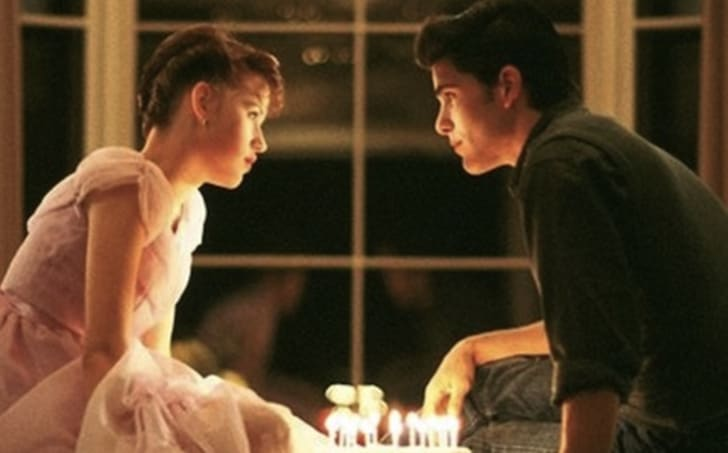 Molly Ringwald and Michael Schoeffling in 'Sixteen Candles' (1984)