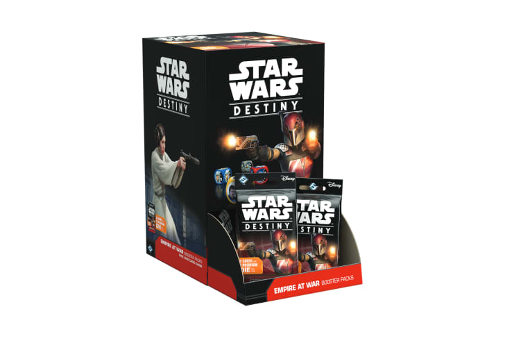 Packages of 'Star Wars Destiny: Empire at War' cards