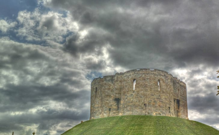 The keep at York Castle
