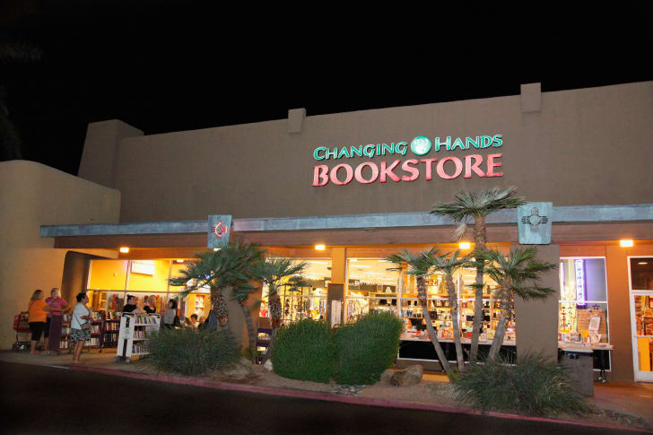 An exterior view of the Changing Hands Bookstore