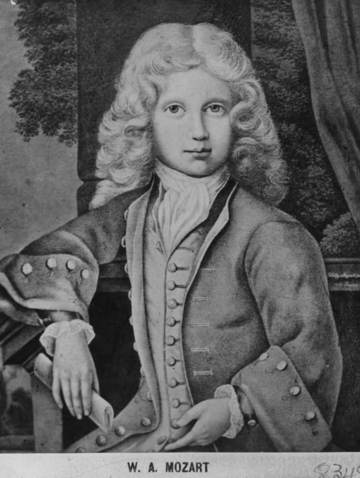Austrian composer Wolfgang Amadeus Mozart (1756-1791) at the age of 11.