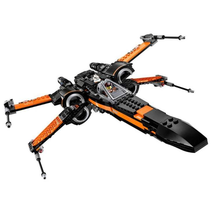 A LEGO 'Star Wars' Poe Dameron X-Wing Fighter set is pictured