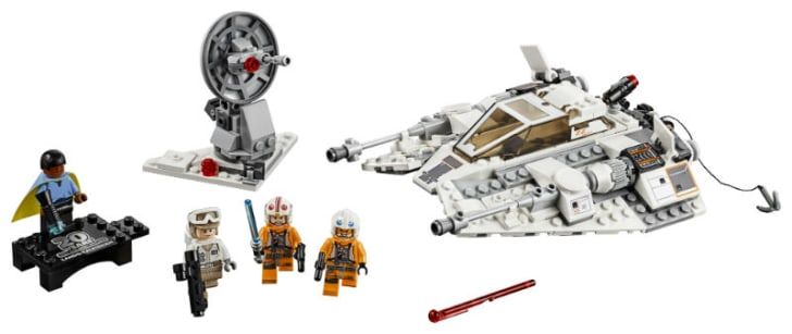 A LEGO 'Star Wars' Snowspeeder set is pictured