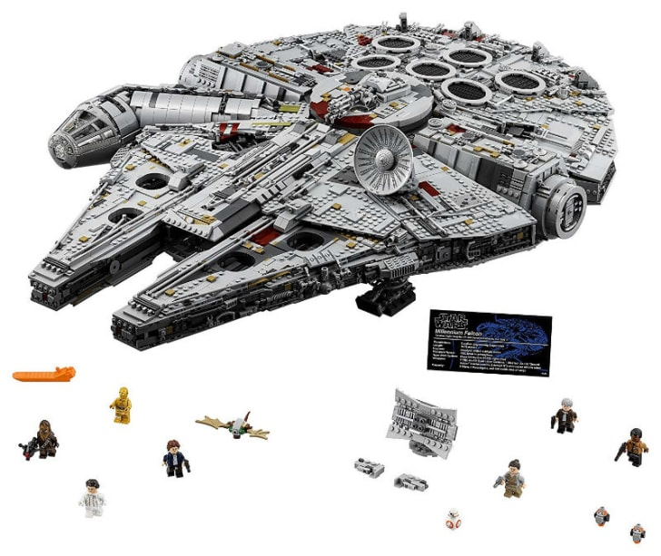 A LEGO 'Star Wars' Ultimate Millennium Falcon set is pictured