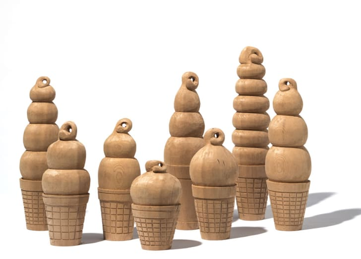Ice cream cone sculptures