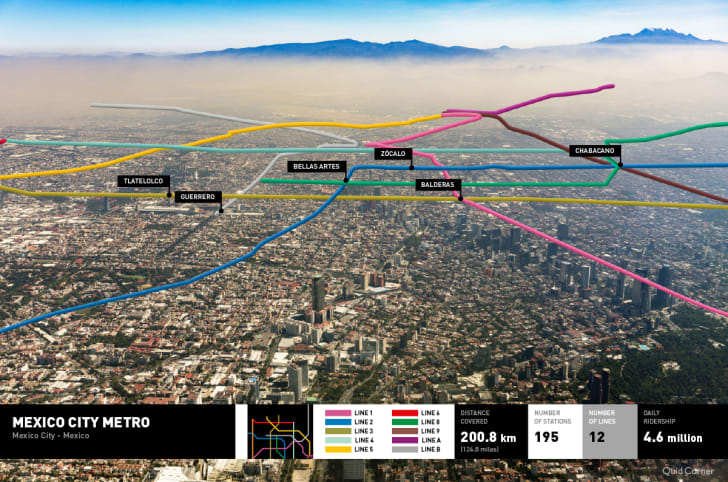 Mexico City's metro map