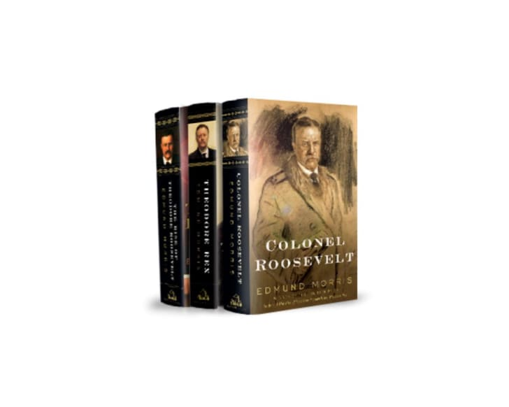 A set of three Edmund Morris books on Theodore Roosevelt