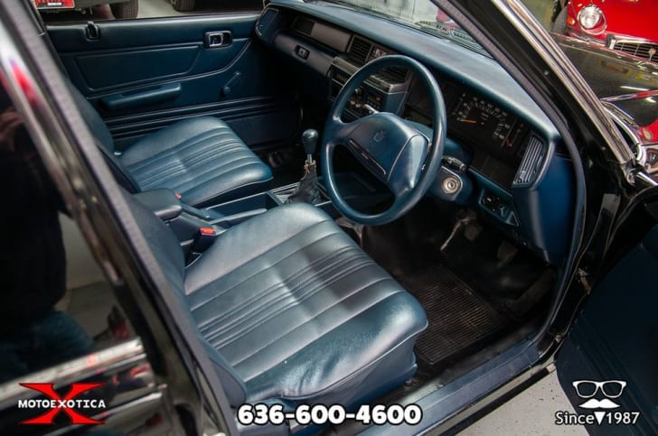 The interior of the car