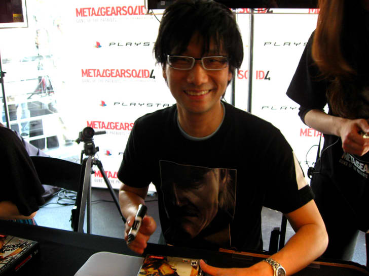 Designer Hideo Kojima at a gaming event in 2008.