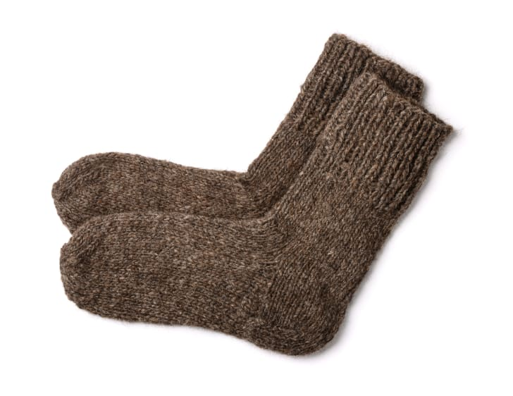 Brown woolen socks