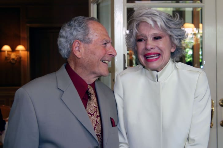 Carol Channing and her husband Harry Kullijan in May 2003.