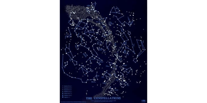 A star map of the Northern Hemisphere