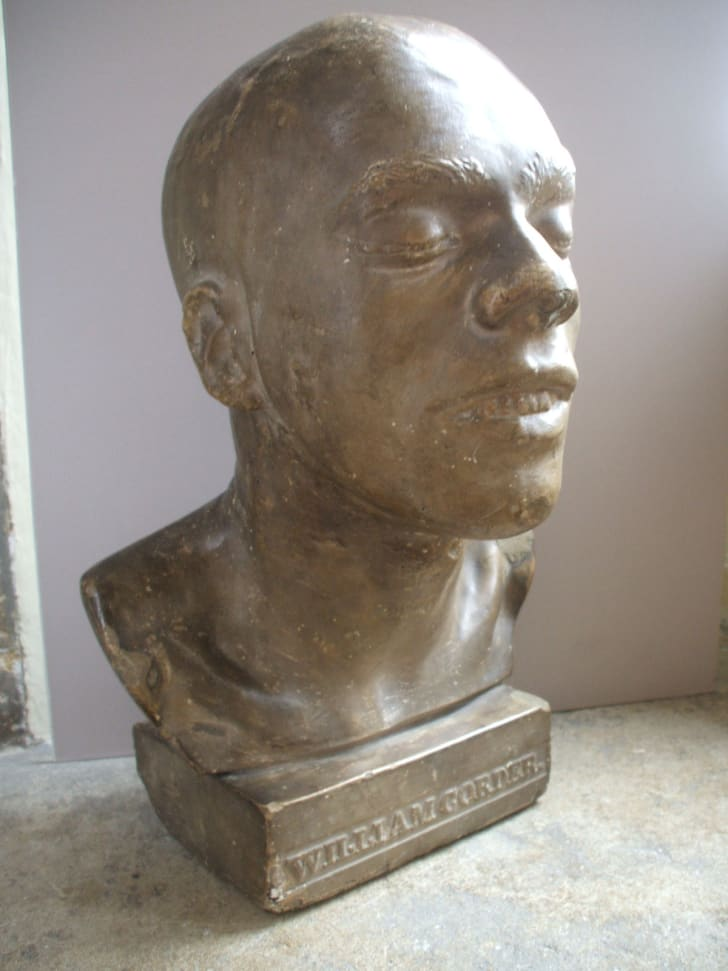 A bust of William Corder