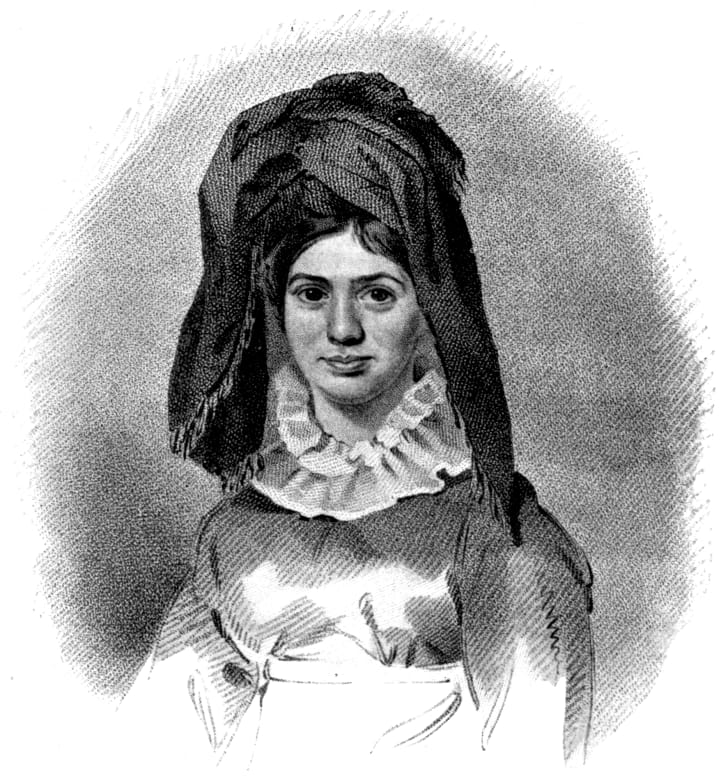 "An image of Princess Caraboo from ""Devonshire characters and strange events"" by S. Baring-Gould"