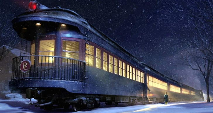 A scene from The Polar Express (2004)