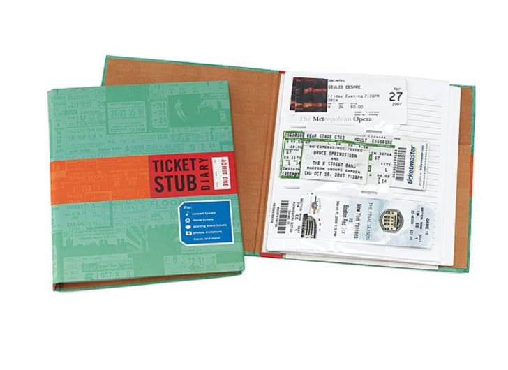 Ticket Stub Diary from UncommonGoods