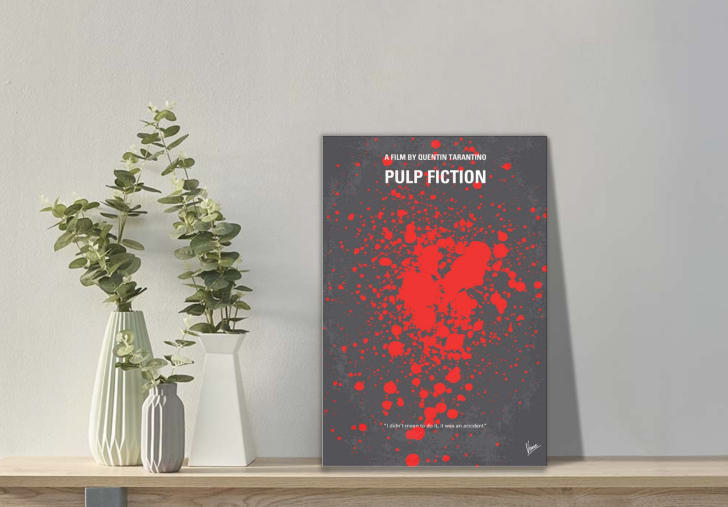 Minimalist 'Pulp Fiction' poster from iCanvas