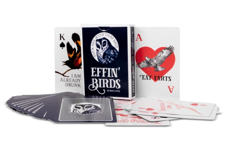 Effin' Birds poker deck playing cards