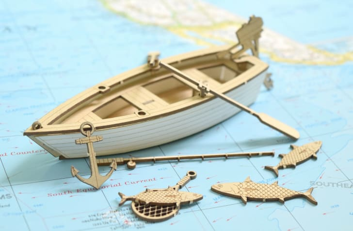 model rowboat kit