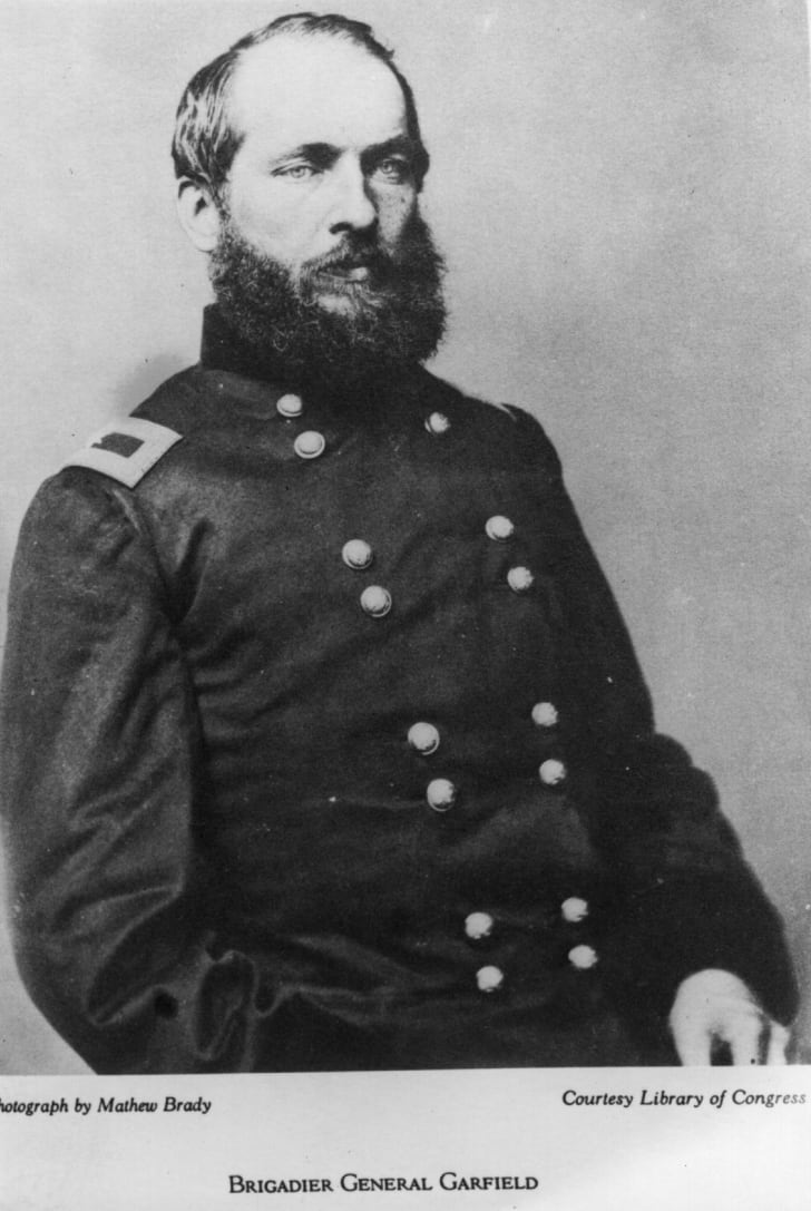 James Garfield in his military uniform