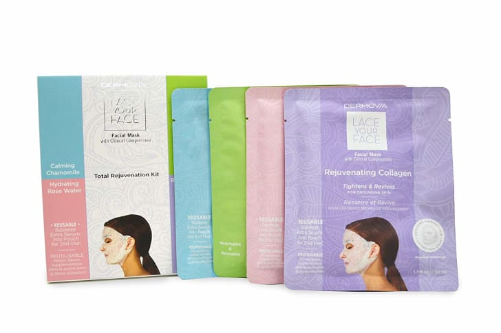 An image of four Dermovia masks in their packaging.