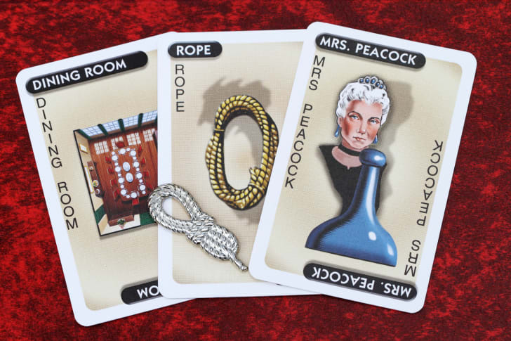 Cards for the board game Clue