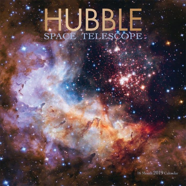 Hubble Space Telescope 2019 wall calendar on Amazon