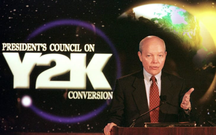John Koskinen of the President's Council on Y2K Conversion makes a public address
