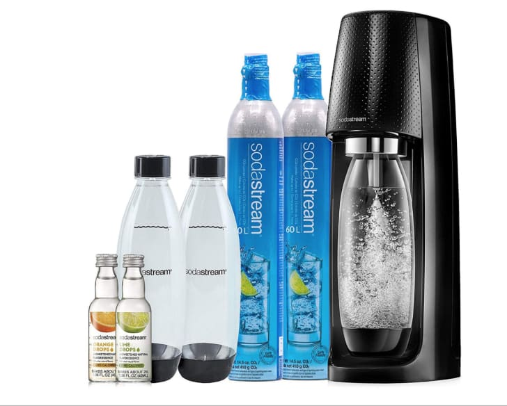 A SodaStream Fizzi Sparkling Water Maker bundle