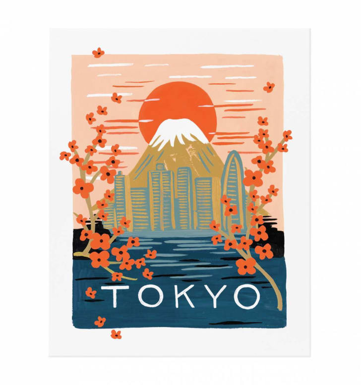 A colorful Tokyo-inspired art print by Anna Bond