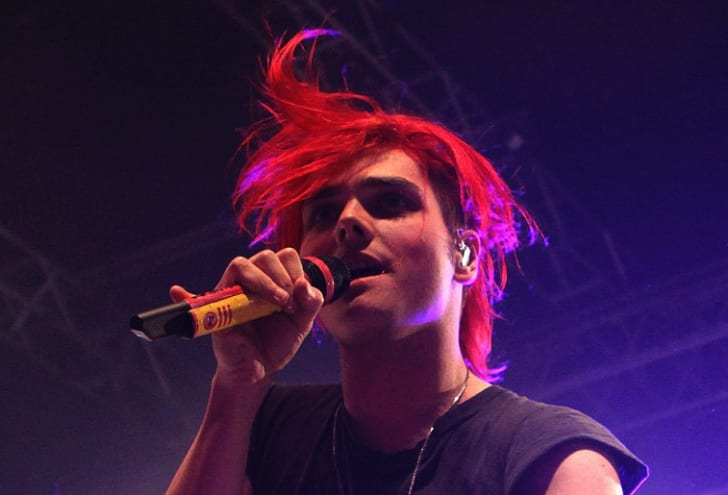 Gerard Way of My Chemical Romance performs at Roseland Ballroom on December 3, 2010 in New York City