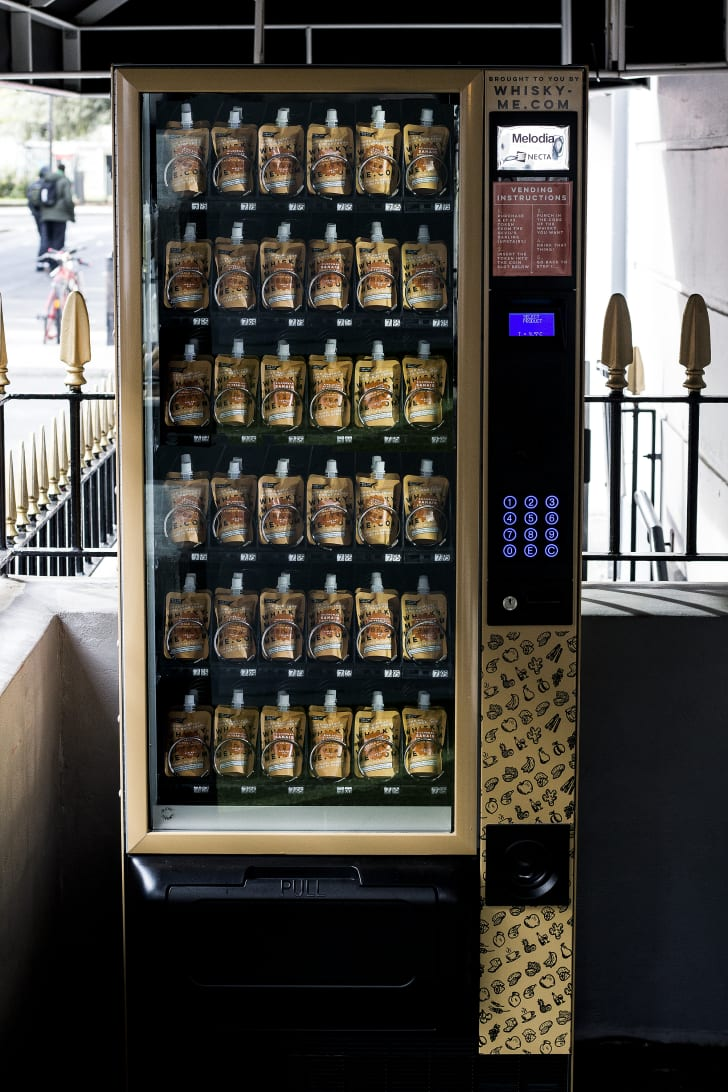 Whiskey pouches in the vending machine