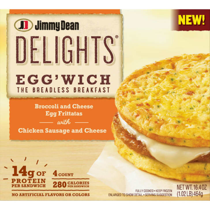 The packaging for the Jimmy Dean Egg'wich breakfast product