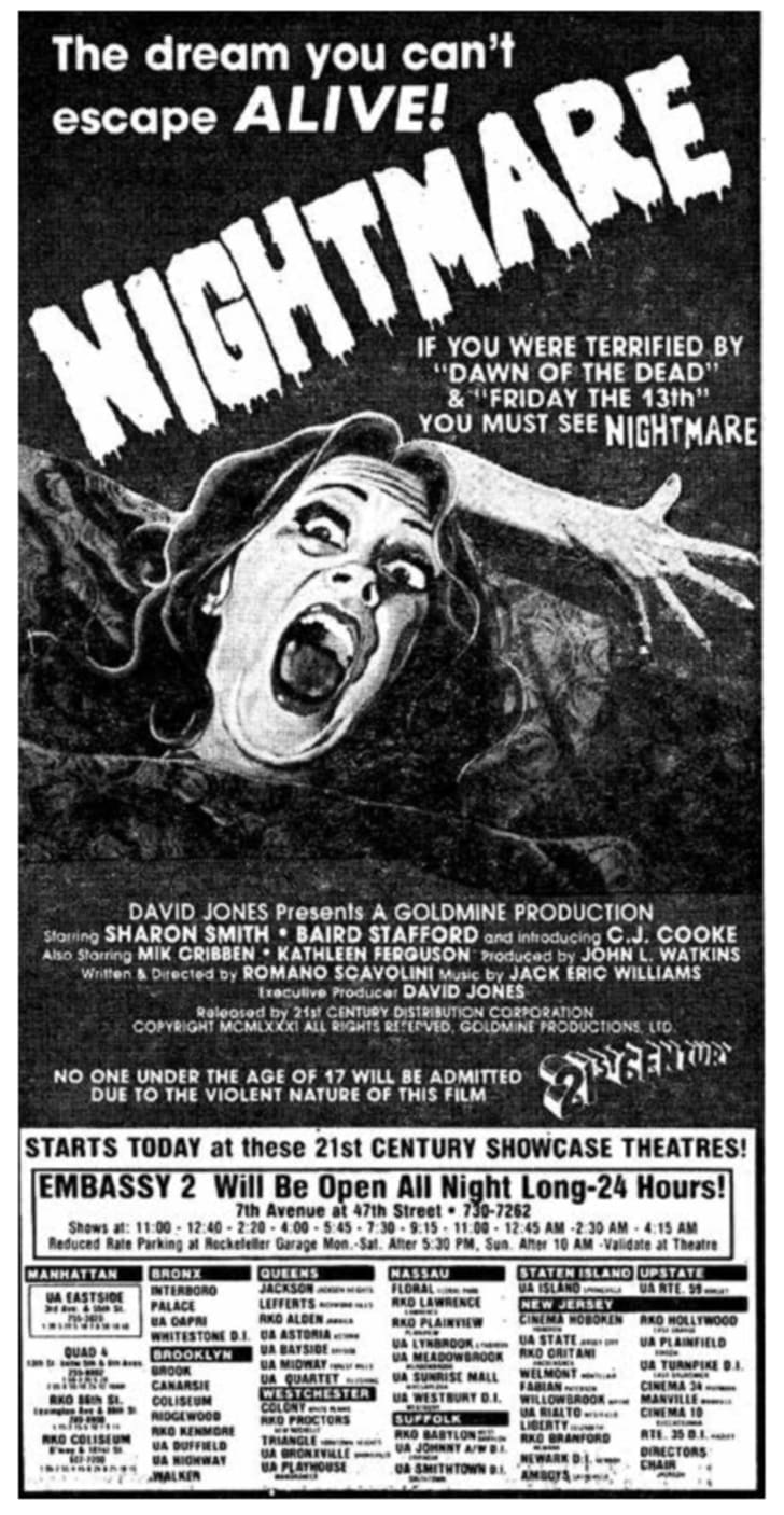 A later ad for 'Nightmare'