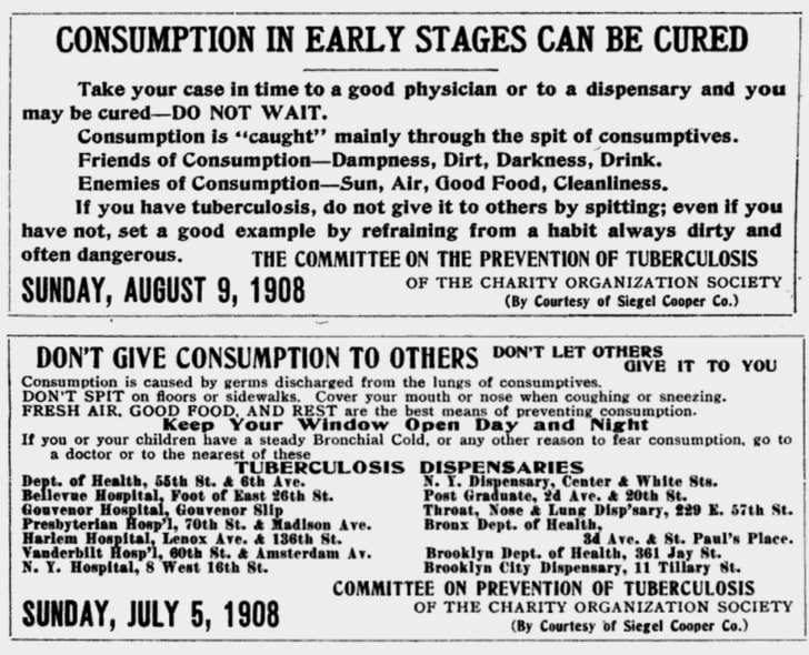 Anti-tuberculosis pamphlets