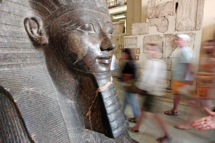 A statue of Queen Hatshepsut at the Egyptian Museum in Cairo.