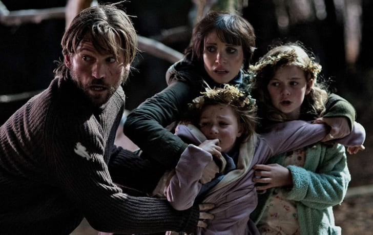 Nikolaj Coster-Waldau, Jessica Chastain, Megan Charpentier, and Isabelle Nélisse in 'Mama' (2013)