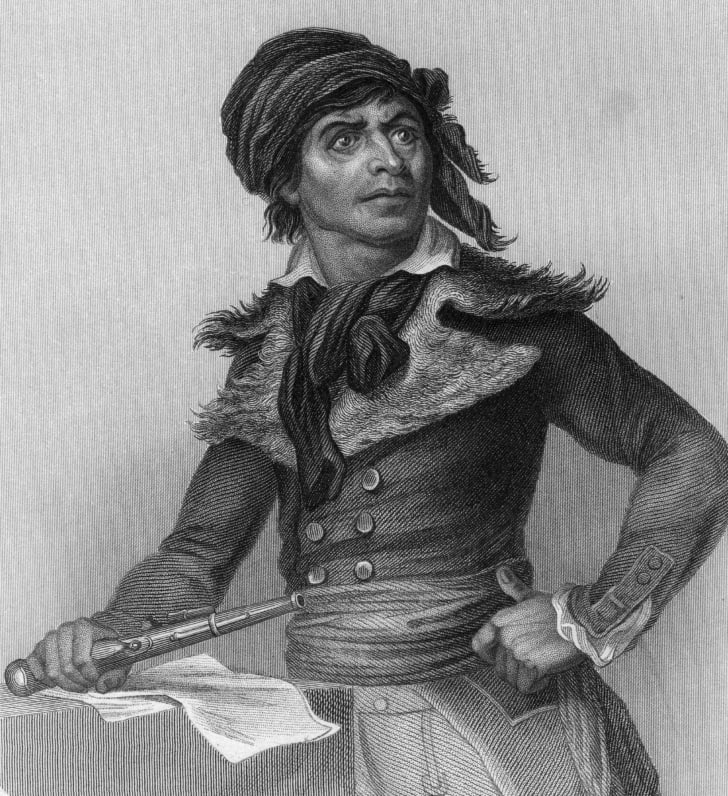 French revolutionary, physician, and journalist Jean Paul Marat
