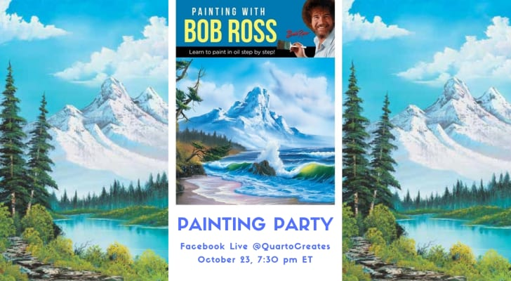 Promo for The Quarto Group's Bob Ross painting party