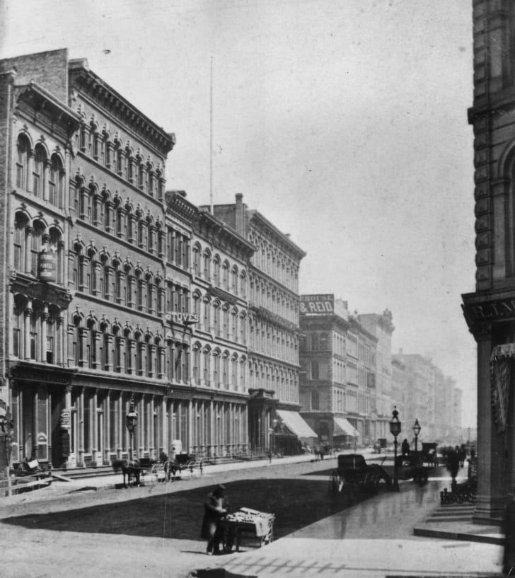 Chicago's Lake Street, circa 1875.