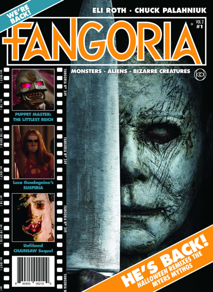 A 'Fangoria' cover featuring Michael Myers