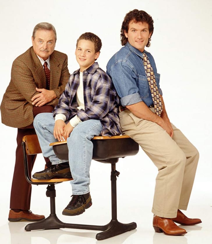 Ben Savage, William Daniels, and Anthony Tyler Quinn in 'Boy Meets World'