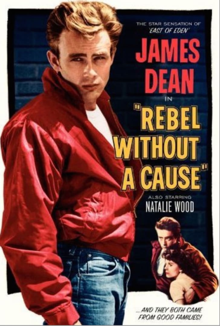 A poster from 'Rebel Without a Cause' (1955)